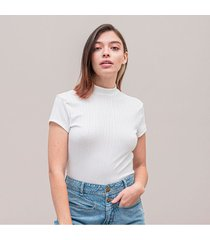 camiseta ajustada corta manga corta tunn
