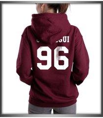 jauregui 96 white ink on back lauren jauregui maroon hoodie s to 3xl