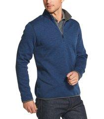 g.h. bass & co. men's fleece quarter-zip sweatshirt