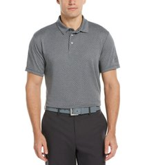 pga tour men's birdseye argyle jacquard polo shirt
