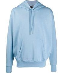 diesel jersey hoodie - blue