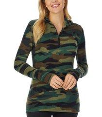 cuddl duds fleece long-sleeve half-zip hoodie