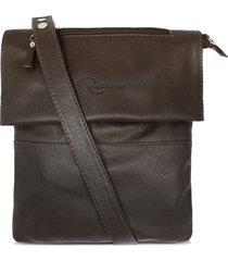 bolsa relicário carteiro de couro nina marrom café