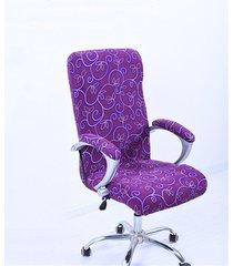 m elástico ministerio del interior silla cubierta del ordenador heces muebles fundas antimacasar (sillas y cubierta de reposabrazos no incluidas) - código púrpura media