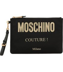 moschino fabric pouch