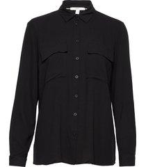 blouses woven blus långärmad svart esprit casual