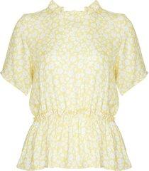 noella noella lai blouse yellow/white flower