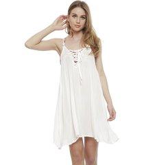 vestido roxy blanco - calce holgado