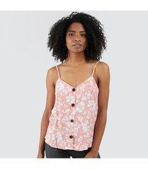blusa tiras floral