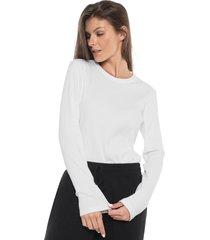 camiseta liz canelada off-white