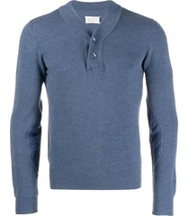 maison martin margiela pre-owned ribbed pullover - blue