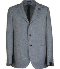 lardini single-breasted two-button jacket with herringbone pattern