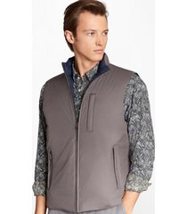 chaqueta reversible quilted down gris brooks brothers
