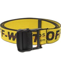 yellow woman industrial belt with black logo