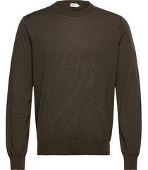 m. merino sweater gebreide trui met ronde kraag groen filippa k