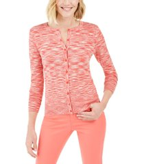 charter club space-dyed button cardigan, created for macy's