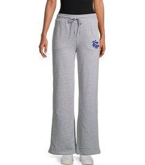 true religion women's logo wide-leg pants - heather grey - size xs