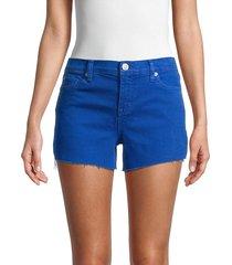hudson women's gracie mid-rise denim cutoff shorts - ocean - size 28 (4-6)