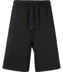 qasimi fleece jersey shorts - green