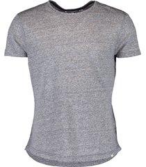 ob-t linen navy stripe tailored-fit crew neck t-shirt