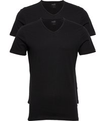 puma basic 2p v-neck t-shirts short-sleeved svart puma