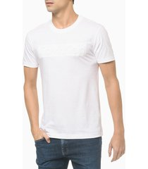 t-shirt slim ck embossing - branco - pp