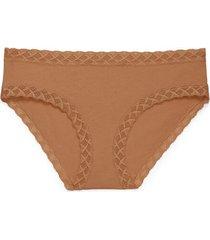 natori intimates bliss girl brief panty, women's, 100% cotton, size m