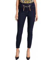 jeans gold tipped marilyn 3 zip azul guess