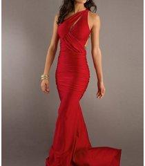 high fashion red prom dresses slim long mermaid evening velvet party dresses