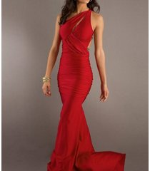 high fashion red prom dresses slim long mermaid evening velvet party dresses