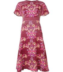peter pilotto floral print dress - red