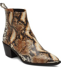 rebecca snake nappa boot shoes boots ankle boots ankle boots with heel brun flattered
