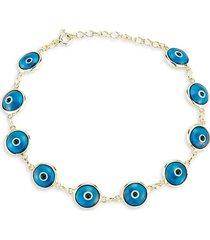 chloe & madison women's 14k goldplated sterling silver evil eye bracelet