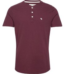 anf mens knits t-shirts short-sleeved röd abercrombie & fitch