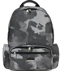 dolce & gabbana dolce & gabbana camouflage print backpack