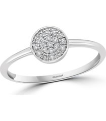 effy diamond cluster promise ring (1/10 ct. t.w.) in sterling silver
