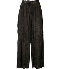 masnada tie-dye palazzo trousers - brown