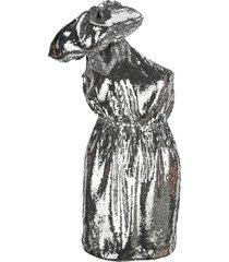 n21 bow sequin short dress