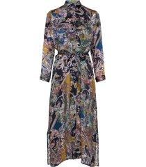 3403 - otile jurk knielengte blauw sand