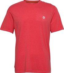 gd jersey tee t-shirts short-sleeved röd timberland