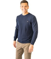 sweater azul pato pampa base liso hernando
