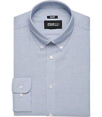 awearness kenneth cole blue stripe slim fit dress shirt