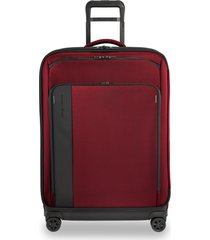 men's briggs & riley large zdx 29-inch expandable spinner packing case - red