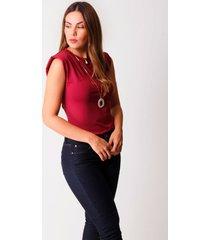 blusa xuss 22361 vinotinto
