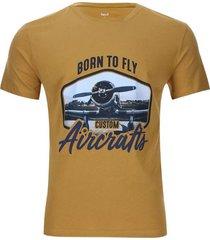 camiseta aircrafts color amarillo, talla l