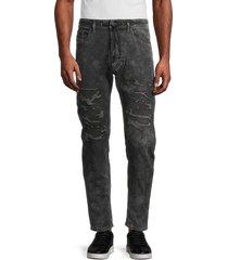 diesel men's narrot sweat slim straight jeans - black - size 28