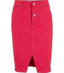gonna in denim elasticizzato classico (rosso) - john baner jeanswear