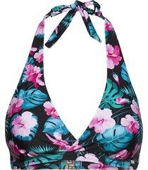 aloha tropica, halterneck bikini-bra bikinitop svart abecita