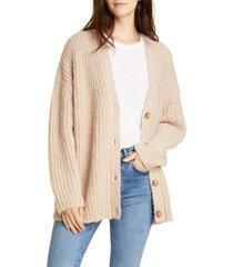 women's jenni kayne cocoon v-neck cardigan, size x-large - beige