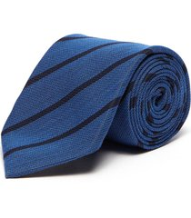 stripe silk wool blend tie